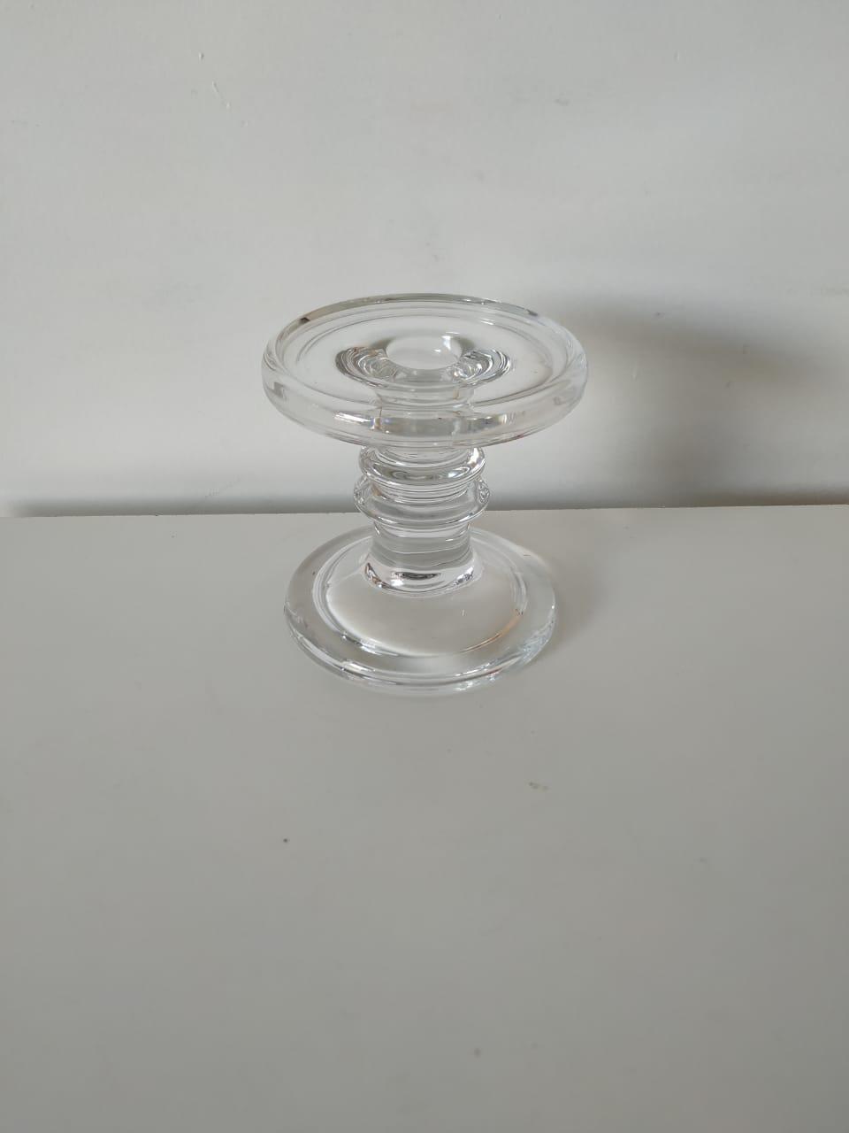 Castiçal de vidro crystal P
