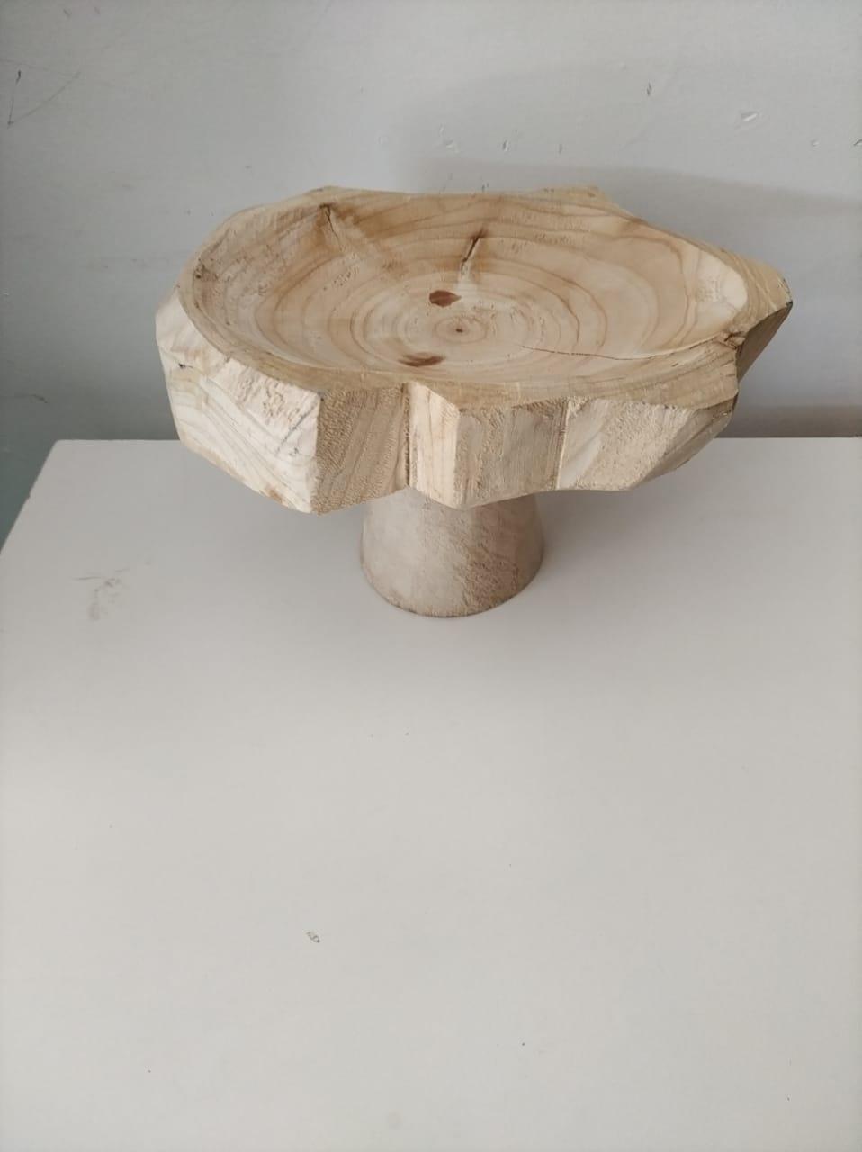 Base Tora de madeira clara