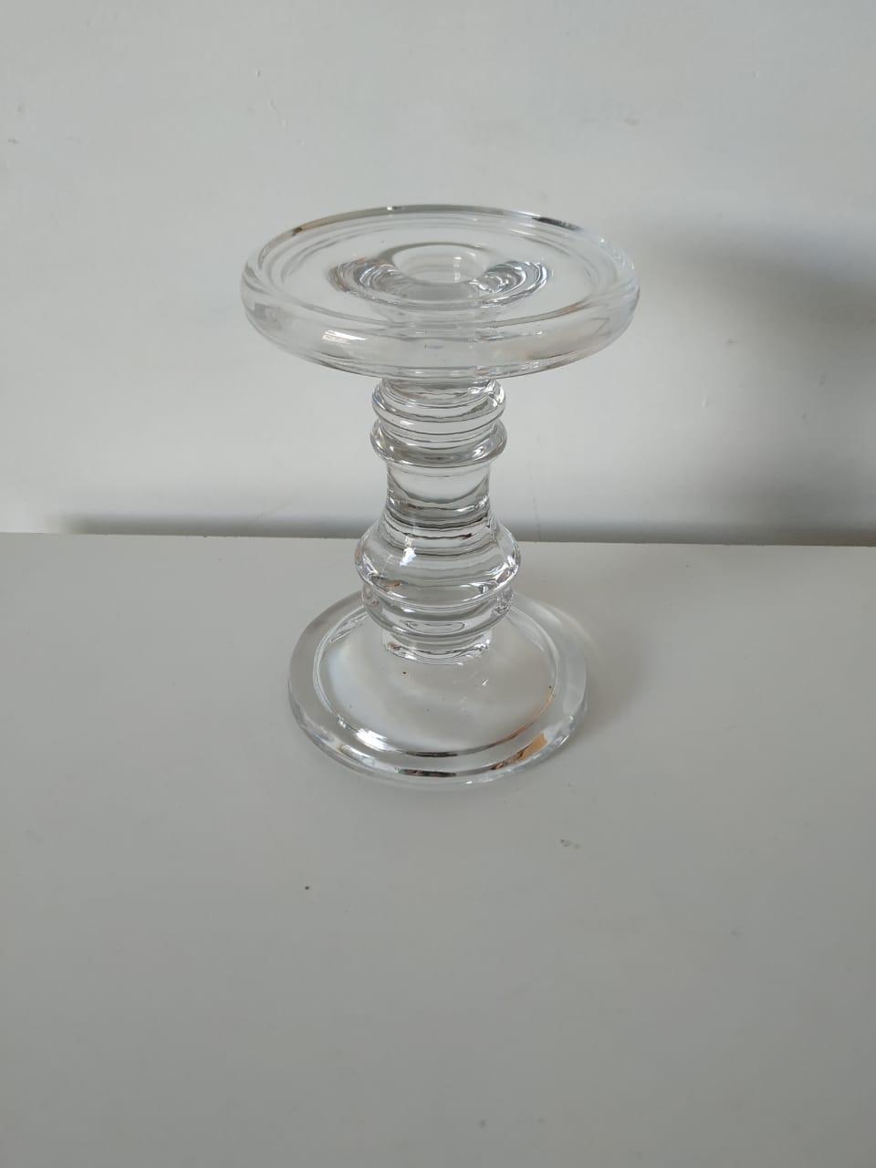 Castiçal de vidro crystal M