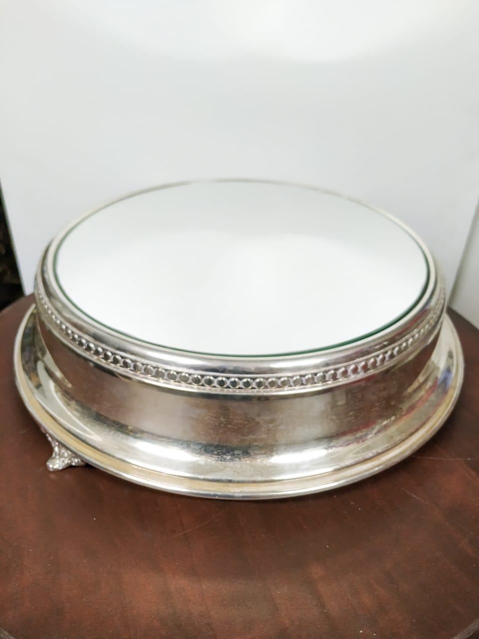 Boleira de prata espelhada  M