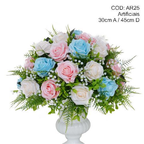 Ar25 arranjo rosa e azul g