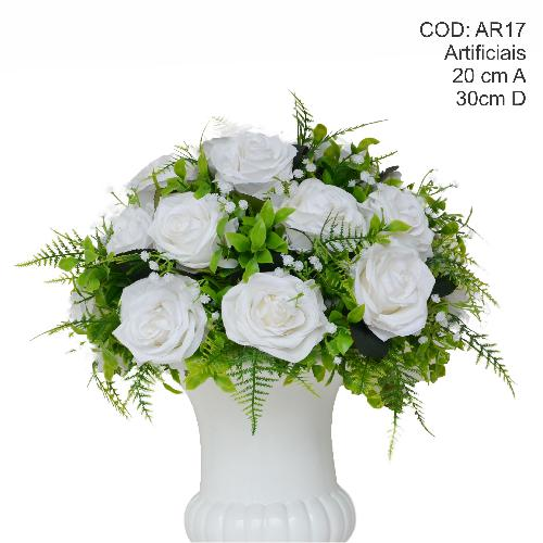 Ar17 arranjo floral m branco