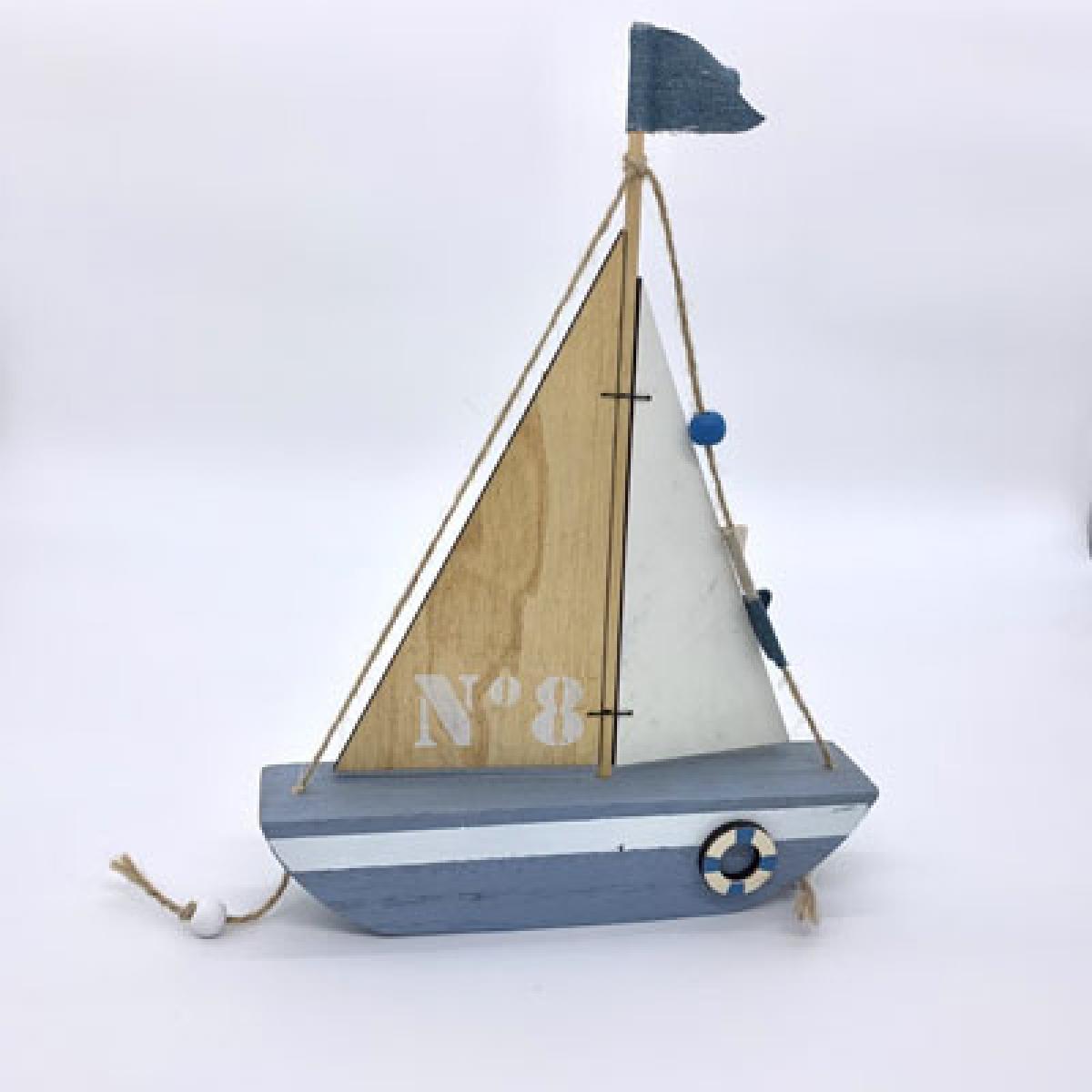 Barco à Vela Azul nº 8