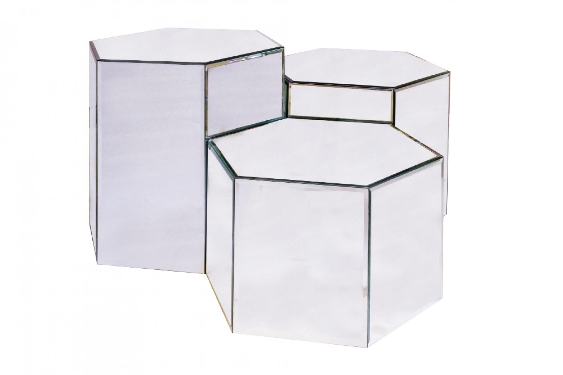 Cubos hexagonal espelho Médio