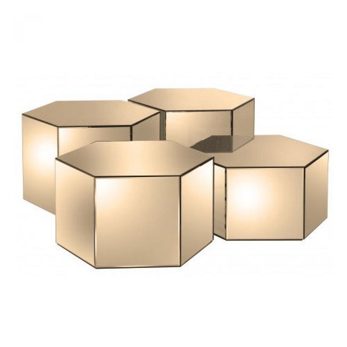 Cubos Hexagonal Fume Médio