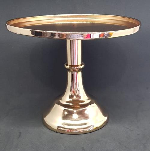 Bandeja Pedestal de Metal dourado